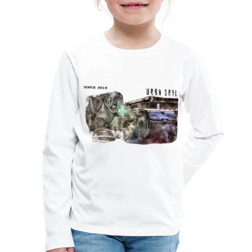 gas mask 2 black - Kinder Premium Langarmshirt