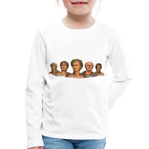 Popiersia cesarskie   Imperial busts - Koszulka dziecięca Premium z długim rękawem