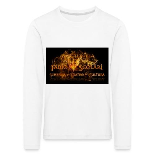 Accademia_Fabio_scolari_nero-png - Maglietta Premium a manica lunga per bambini