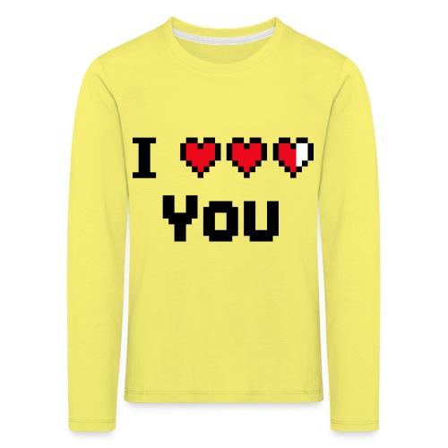 I pixelhearts you - Kinderen Premium shirt met lange mouwen