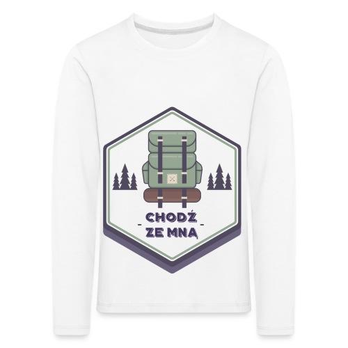 Górska wycieczka - Koszulka dziecięca Premium z długim rękawem