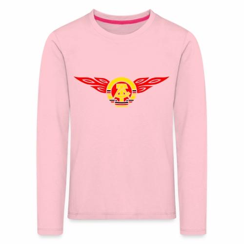 GDR flames crest 3c - Kids' Premium Longsleeve Shirt