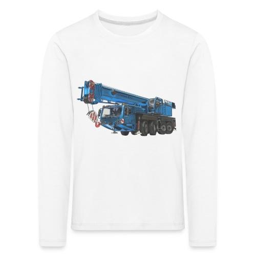 Mobile Crane 4-axle - Blue - Kids' Premium Longsleeve Shirt