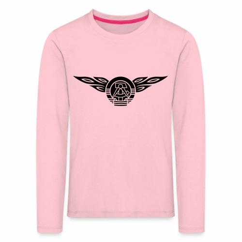 GDR flames crest 1c - Kids' Premium Longsleeve Shirt