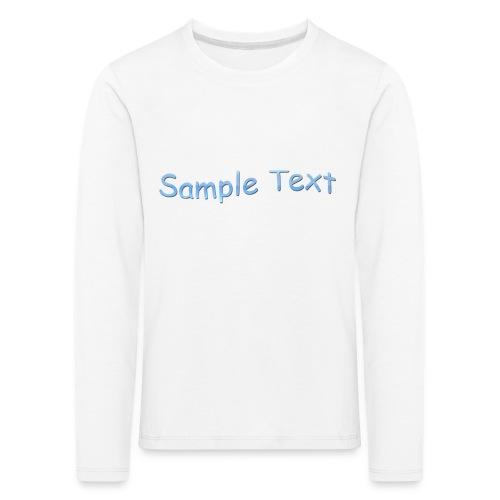 SAMPLE TEXT CAP - Kids' Premium Longsleeve Shirt