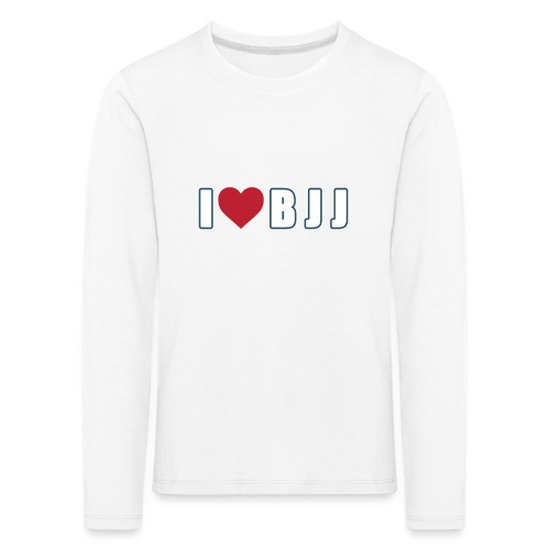 i love bjj - Koszulka dziecięca Premium z długim rękawem