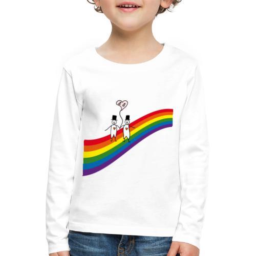 Männer unterm Regenbogen - Kinder Premium Langarmshirt