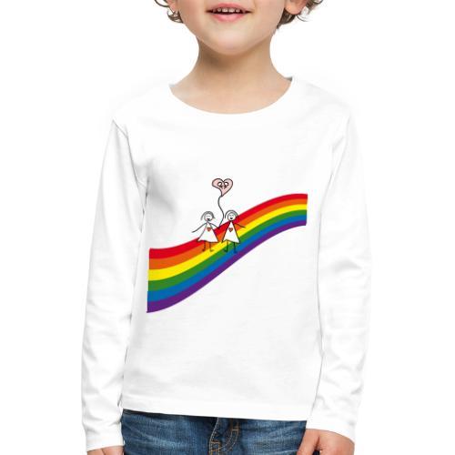 Regenbogen Frauenpaar - Kinder Premium Langarmshirt