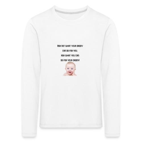 daddy tshirt sort tekst - Kids' Premium Longsleeve Shirt