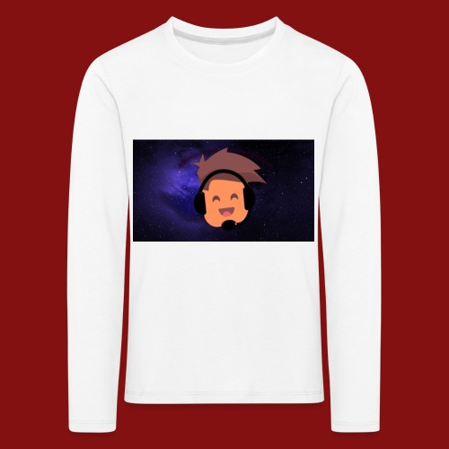 ProfilBild RymdBakgrund - Långärmad premium-T-shirt barn