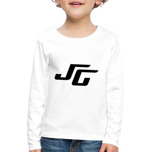 JG Logo schwarz - Kinder Premium Langarmshirt