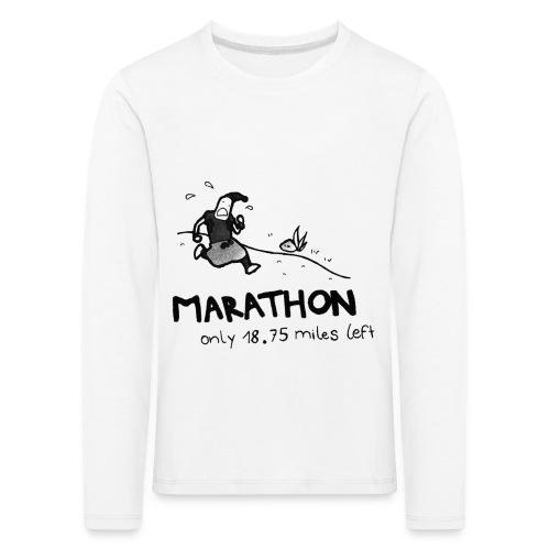 marathon-png - Koszulka dziecięca Premium z długim rękawem