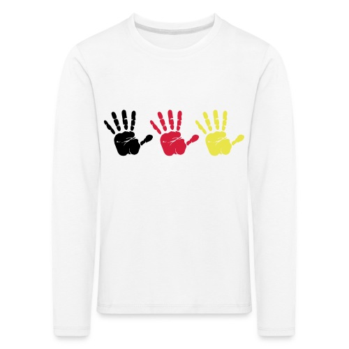 Handabdruck Trio - Kinder Premium Langarmshirt