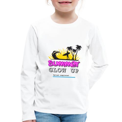 Summer Glow Up - Kinder Premium Langarmshirt