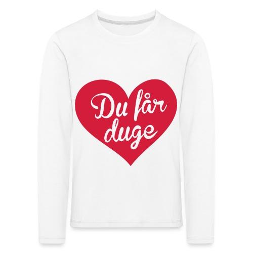 Ekte kjærlighet - Det norske plagg - Premium langermet T-skjorte for barn