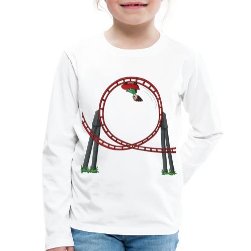Davincstyle Looping Wit - Kinderen Premium shirt met lange mouwen
