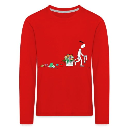 frukt og grønt handleveske - Premium langermet T-skjorte for barn