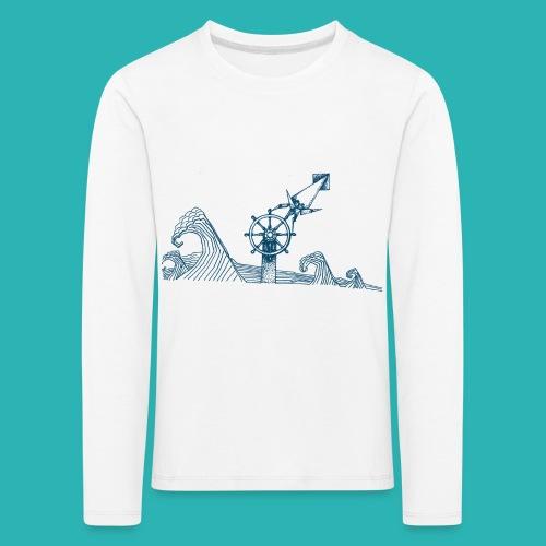 Carta_timone_blu-png - Maglietta Premium a manica lunga per bambini
