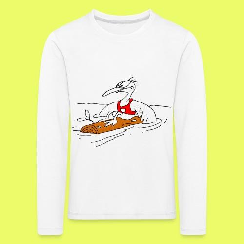 PaddelVogel - Kinder Premium Langarmshirt