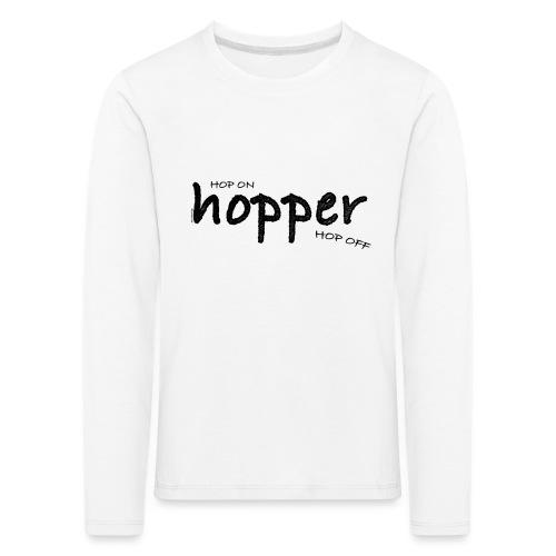 MuchoHop Hop On/Off (black) - Camiseta de manga larga premium niño