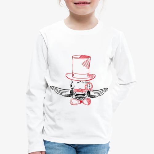 Elegant Hipster Fish - Mustache - Kinder Premium Langarmshirt