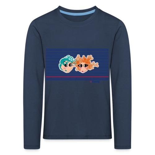 Mariniere bleue - T-shirt manches longues Premium Enfant