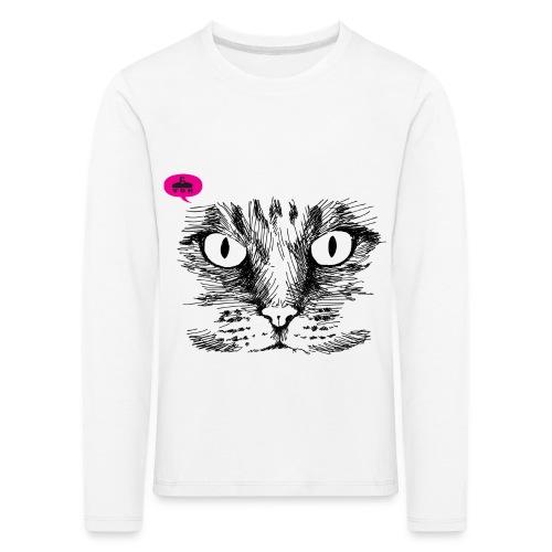 kattegezicht vdh - Kinderen Premium shirt met lange mouwen