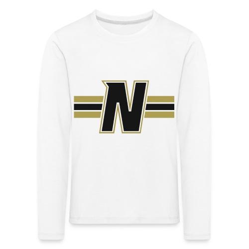 Nordic Steel Black N with stripes - Kids' Premium Longsleeve Shirt