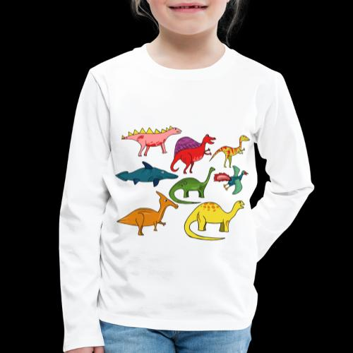 Dinos - Kinder Premium Langarmshirt
