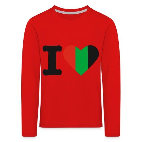 hartjeroodzwartgroen - Kinderen Premium shirt met lange mouwen