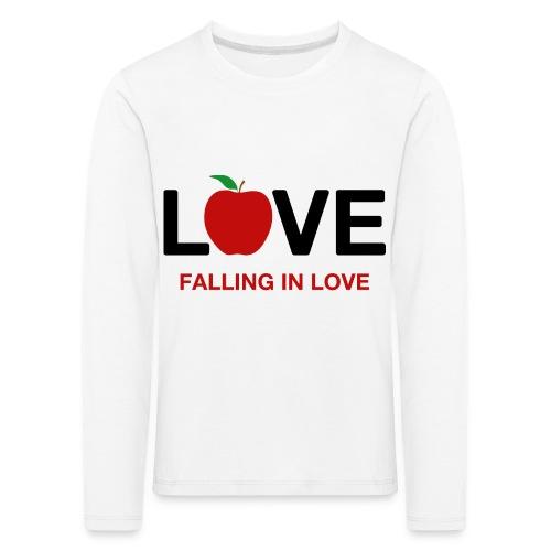 Falling in Love - Black - Kids' Premium Longsleeve Shirt