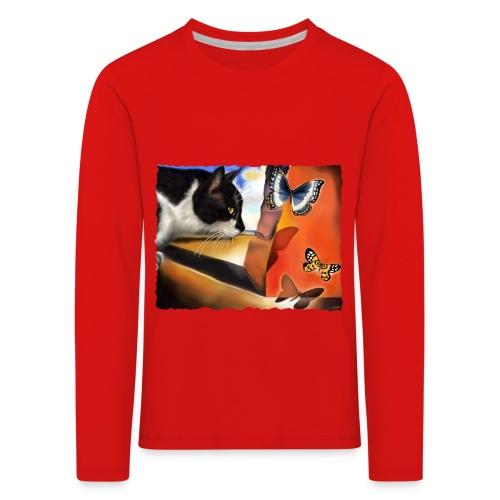 Il gatto di Dalí - Maglietta Premium a manica lunga per bambini