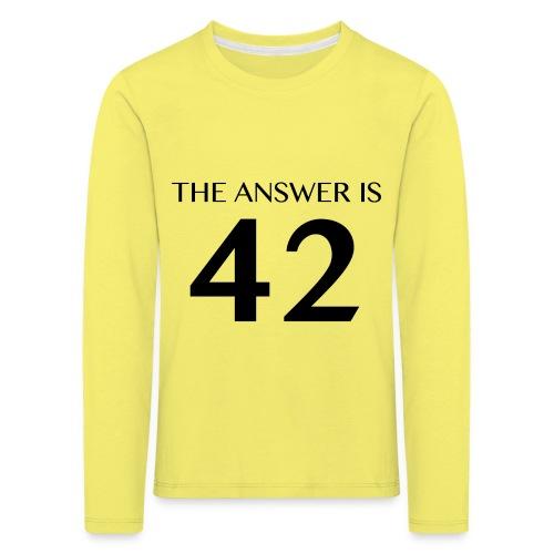 The Answer is 42 Black - Kids' Premium Longsleeve Shirt