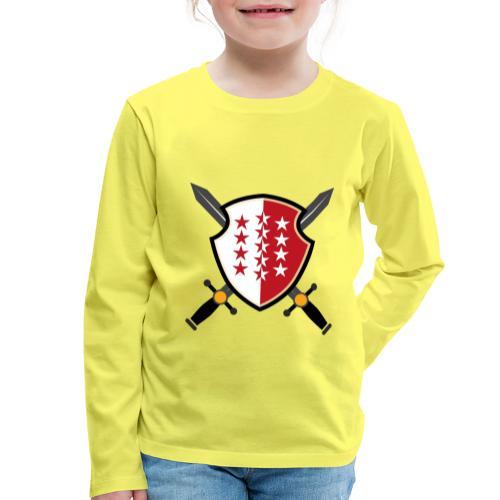 Valais avec épées - Kinder Premium Langarmshirt
