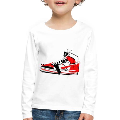 Destrukt my Shoes by MiZAl Touch Concept - Koszulka dziecięca Premium z długim rękawem