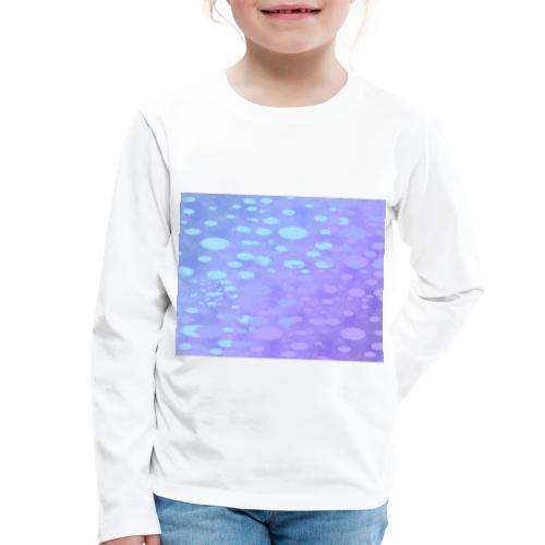 wassertropfen in der regenbogenpfütze - Kinder Premium Langarmshirt