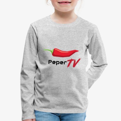 PeperTV - Kinderen Premium shirt met lange mouwen