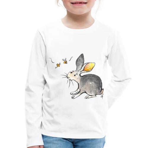 Der kleine Hase schaut sich um. - Kinder Premium Langarmshirt
