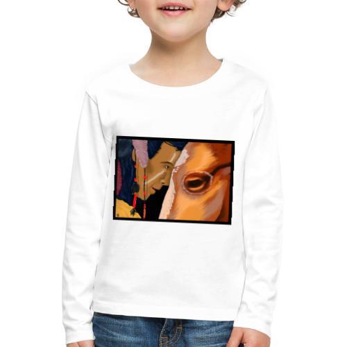 Man and Horse - Kinderen Premium shirt met lange mouwen