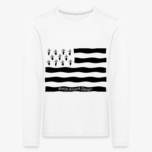 Gwenn ha Du-Noir fond transparent - T-shirt manches longues Premium Enfant