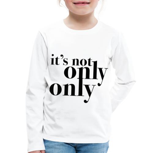 onlyonly - Premium langermet T-skjorte for barn