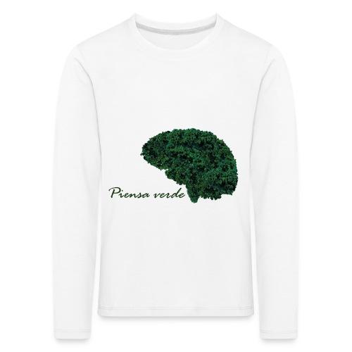 Piensa verde - Camiseta de manga larga premium niño