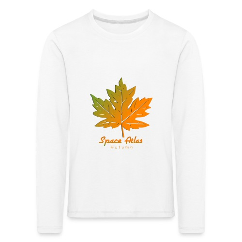Space Atlas Long Sleeve T-shirt Autumn Leaves - Børne premium T-shirt med lange ærmer