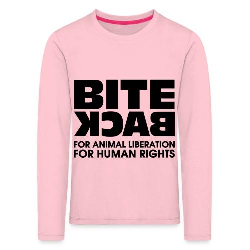 Bite Back logo - Kinderen Premium shirt met lange mouwen