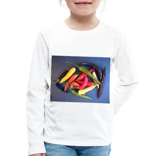 Chili bunt - Kinder Premium Langarmshirt