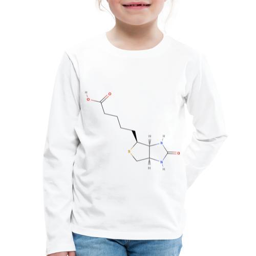 Vitamin H Molecule - Colored Structural Formula - Børne premium T-shirt med lange ærmer
