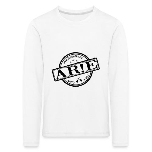 Backdrop AR E stempel zwart gif - Kinderen Premium shirt met lange mouwen