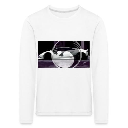 lion black lyon design - Kids' Premium Longsleeve Shirt
