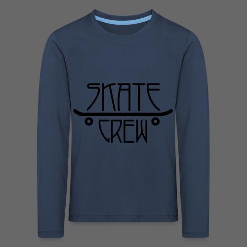 Skatecrew byKane, main Logo - Kinder Premium Langarmshirt
