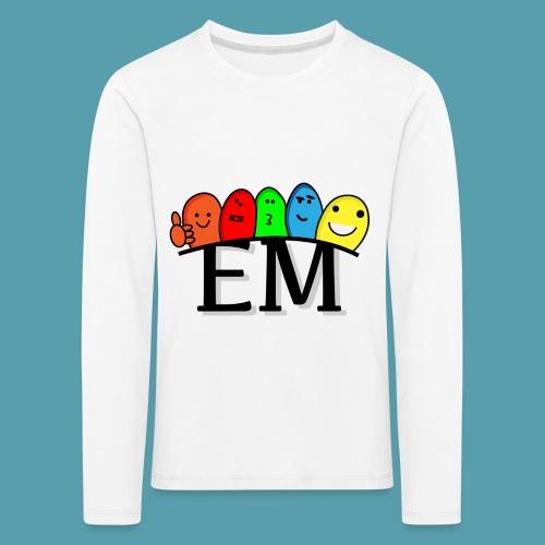 EM - Lasten premium pitkähihainen t-paita